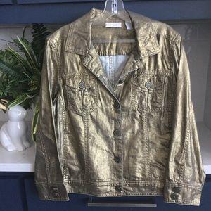 Chicos gold jacket